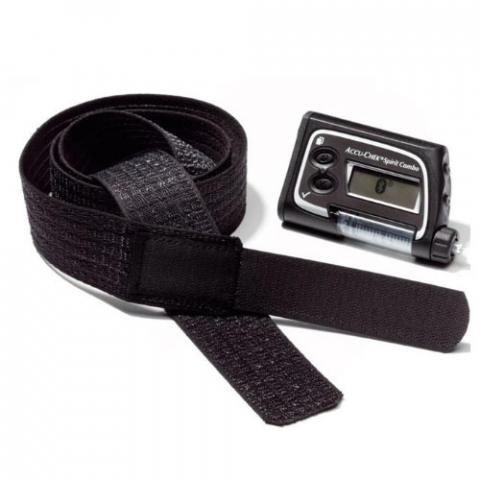 Пояс черный для ношения инсулиновой помпы на талии