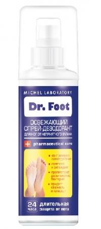 Dr FOOT Спрей-дезодорант освежающий от неприятного запаха ног 150 мл