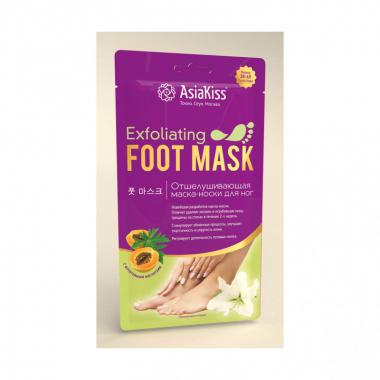 ASIAKISS Отшелушивающая маска-крем для ног р-р 35-40