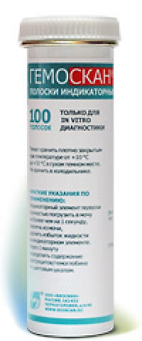 Тест-полоски Гемоскан №100