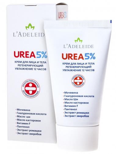 """L'Adeleide Крем для лица и тела """"UREA 5%"""", 50 мл"""