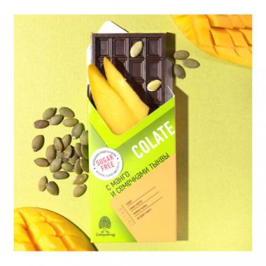 NEOcolate. Шоколад без сахара с манго и тыквой, 25 г