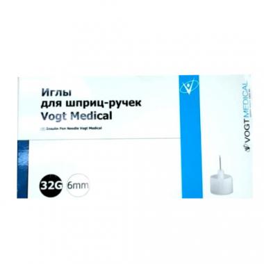 Иглы для шприц-ручек Vogt Medical 32G, 6 мм
