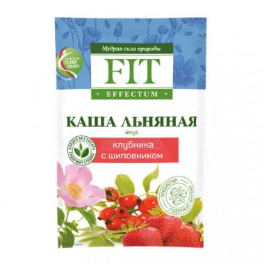 Каша льняная «Клубника с шиповником», FitEffectum, 25 г