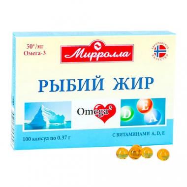 Рыбий жир с витаминами А, D, E  №100 капс.