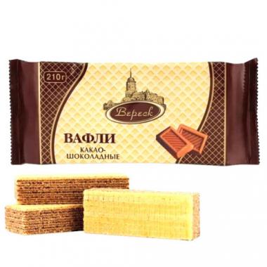 Вафли Вереск Какао-Шоколадные на сорбите, 105 г