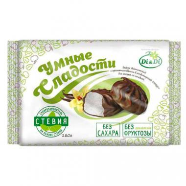 """Зефир ванильный """"Умные сладости"""" глазированный, 180 г"""