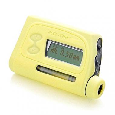Чехол силиконовый для ношения инсулиновой помпы, желтый