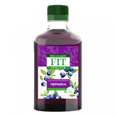Сироп витаминизированный со стевией Черника Fit Effectum, 250 мл