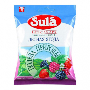 Леденцы SULA без сахара Лесная ягода, 60 г