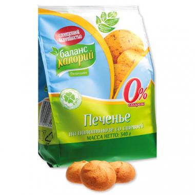 """Печенье на палатинозе со стевией """"Баланс калорий"""", 340 г"""
