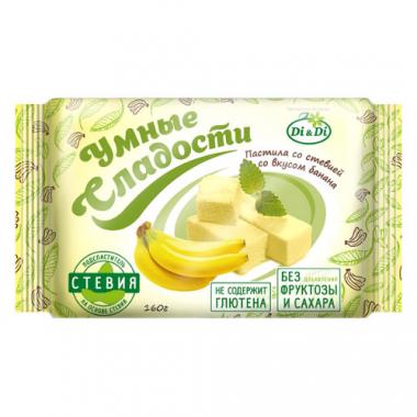 Пастила без сахара «Умные сладости» со стевией «Банан», 160 г