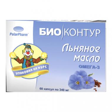 "Льняное масло ""БиоКонтур"" 0,34 №60 капс."