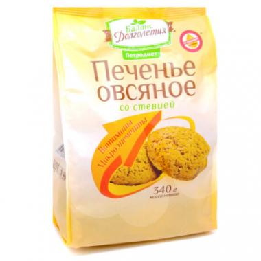 """Печенье овсяное """"Баланс долголетия"""" со стевией, 340 г"""