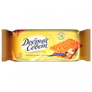 Печенье ванильный вкус на фруктозе Добрый совет, 145 г