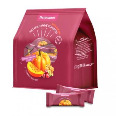 Конфеты «Петродиет» тыква-клюква с грецкими орехами, 200 г