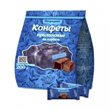 """Конфеты """"Петродиет"""" пралиновые на сорбите, 200 г"""
