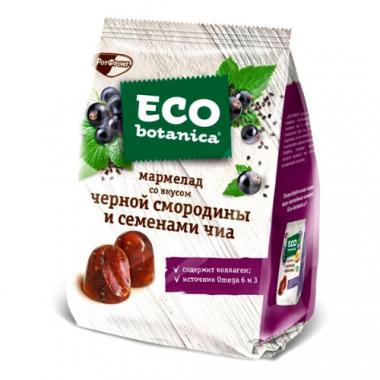 Мармелад со вкусом черной смородины и семенами чиа Eco botanica, 200 г