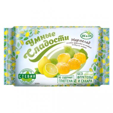 Мармелад без сахара «Умные сладости» желейно-формовой «Лимон», 200 г