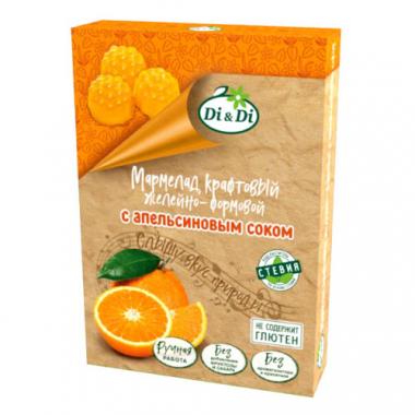Мармелад крафтовый желейно-формовой с апельсиновым соком «Di&Di», 155 г