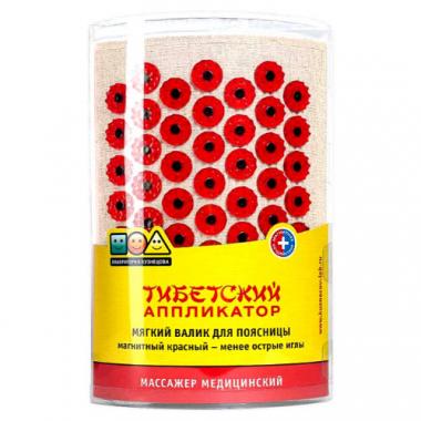 """Массажер медицинский """"Тибетский аппликатор магнитный"""" для поясницы, красный"""