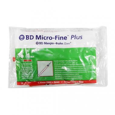Шприцы инсулиновые Микро-Файн 1 мл (U40 G30 0,3 мл*8 мм) №10