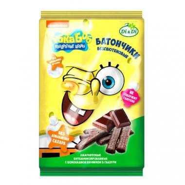 Батончики без глютена Губка Боб с шоколадной начинкой, 110 г