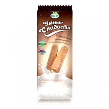 Батончики без глютена «Умные сладости» со сливочной начинкой в молочно-шоколадной глазури, 20 г