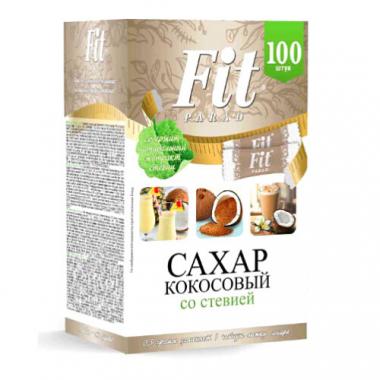 Кокосовый сахар Fit Parad со стевией, 100 шт