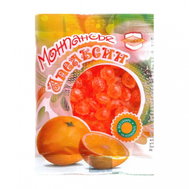 Монпансье Апельсин на изомальте, 100 г