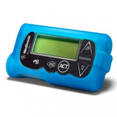 Силиконовый скин для инсулиновых помп Медтроник, голубой