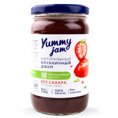 Натуральный клубничный джем Yummy jam. 350 г