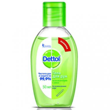 Антибактериальный Refresh гель для рук Dettol, 50 мл