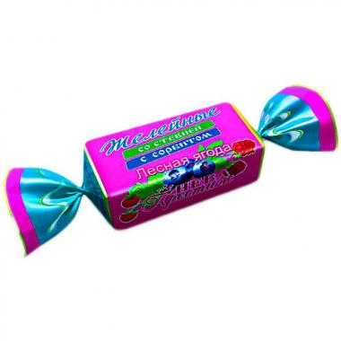 Конфеты желейные со стевией с сорбитом Лесная ягода, 200 г