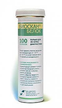 Тест-полоски на белок, рН  Биоскан №50