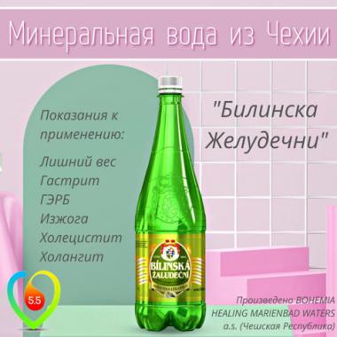 Минеральная вода Bilinska Zaludecni (Билинска Желудечни), 1 л