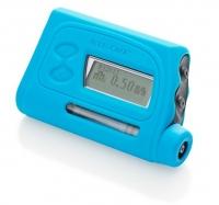 Чехол силиконовый для ношения инсулиновой помпы, голубой